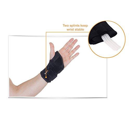 BraceUP Wrist Support Brace with Splints for Carpal Tunnel Arthritis