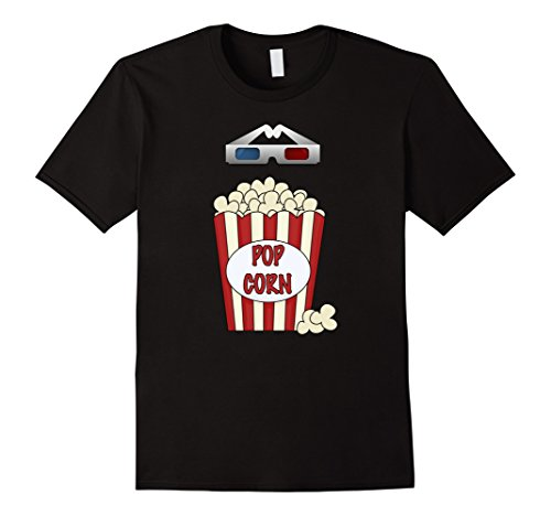 Men's Popcorn - Funny Last Minute Halloween Costume T-Shirt XL Black (2)