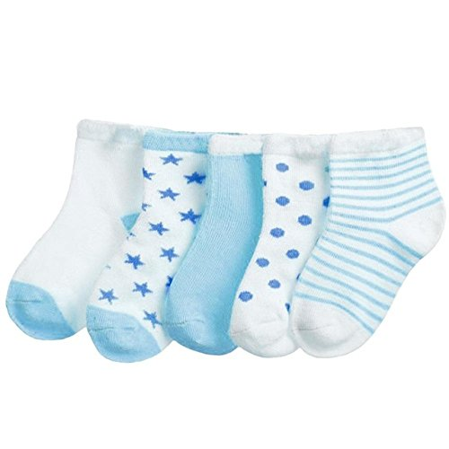 bb6debcf255f FOOTPRINTS Organic cotton Baby Socks- 6-12 Months - Pack of 5 Pairs ...