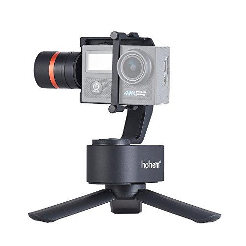 Hohem XG1 3-axis Gimbal Universal Wearable Stabilizer Action Camera Gimbal Compatible for GoPro Hero 7/6/5/4/3 DJI Osmo Action which Can be Mounted on Bike Helmet and Car