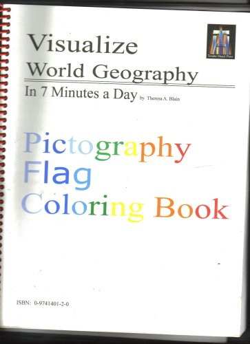 Visualize World Geography in 7 Minutes a Day (Pictography Flag Coloring Book)