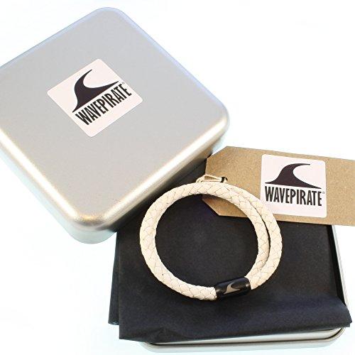 8e2ac557d684 85% OFF wavepirate® Piel de pulsera Hawaii g blanco negro para hombre