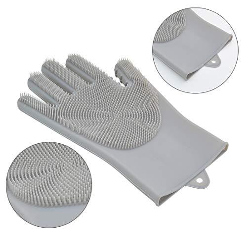 Amazon.com: Poualss Guantes de lavavajillas, 2 pares de ...