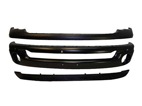 02-05 DODGE PICKUP RAM FRONT BUMPER BLK CAP VALANCE 3PC (Bumpers Front Aftermarket)