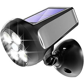 Pobon Solar Lights Outdoor 360 176 Adjustable 300lm Bright