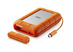 The LaCie rugged RAID delivers a game-changing blend of PC and Mac compatibility, capacity, speed, mobility, and reliability. As the ultimate solution for on-the-go professionals, the LaCie rugged adapts to the need for performance or complet...