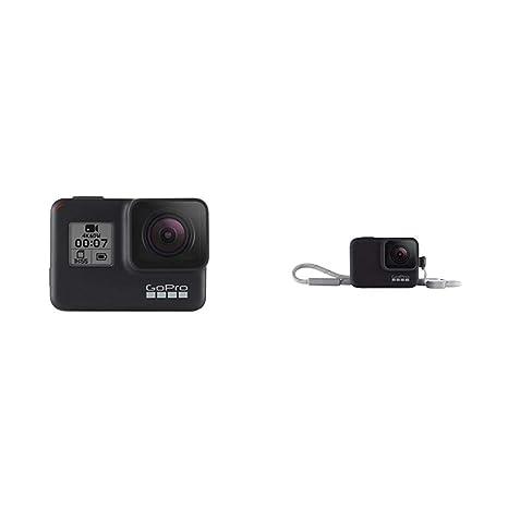 GoPro HERO7 Black - Cámara de acción (sumergible hasta 10 m, pantalla táctil, vídeo 4K HD, fotos de 12 MP, transmisión en directo y estabilizador) ...