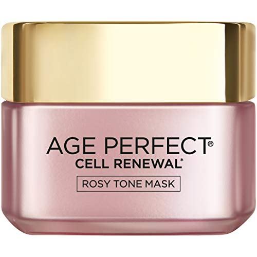L'Oréal Paris Skincare Age Perfect Cell Renewal Rosy Tone Face Mask with AHA and Imperial Peony for Rosy, Radiant Skin, 1.7 oz.