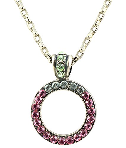 Mariana-Silver-Plated-Rose-Swarovski-Crystal-Circle-Pendant-Necklace-in-Rose-and-Crystal