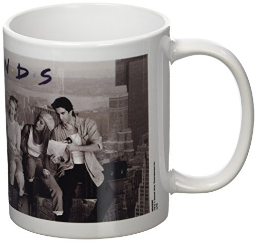 Click for larger image of Friends Lunch On A Skyscraper Ceramic Mug