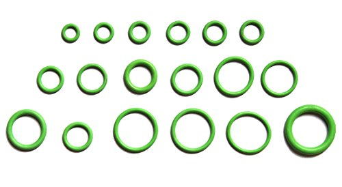 Accessbuy 270 pcs Green Rubber HNBR O-ring Assortment Kit For Gasket Seals faucet shower head/caddy Replacement
