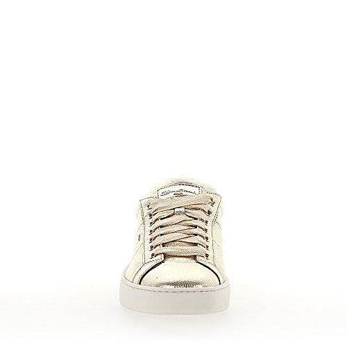 Santoni Sneaker 60164 Leder Metallic Gold