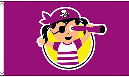 (AZ FLAG Pirate Child Girl Flag 3' x 5' - Young Pirates Flags 90 x 150 cm - Banner 3x5 ft)