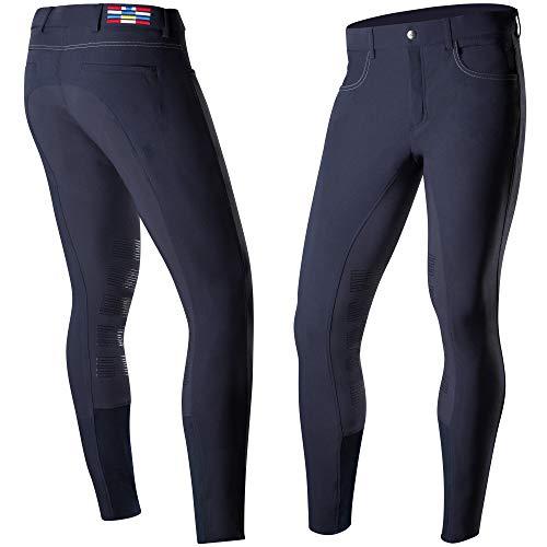 Horze Jackson Men's Knee Patch Functional Breeches, Dark Navy, ()