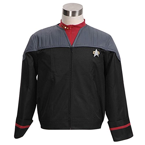 Wolfbar Men's Nemesis Voyager Captain Sisko Jacket Uniform Halloween Costume ()
