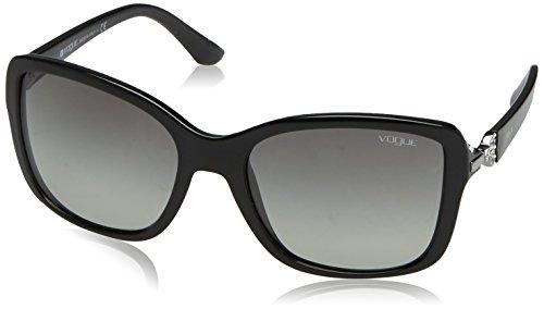 Vogue Eyewear Womens Sunglasses (VO2832) Black/Grey Plastic - Non-Polarized - - Vogue Eye Wear