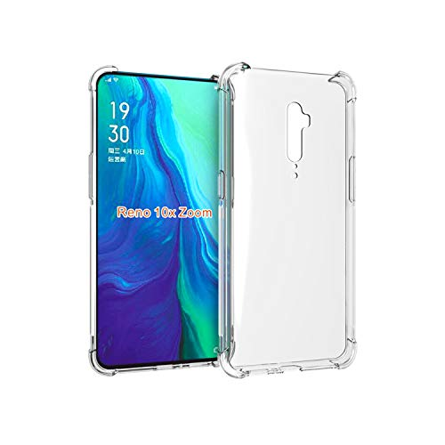 Cassby Dual Layer Bump Side Air Cushion Ultra Light Slim Shockproof Silicone Back Case Cover for Oppo Reno 10x Zoom (6.6…