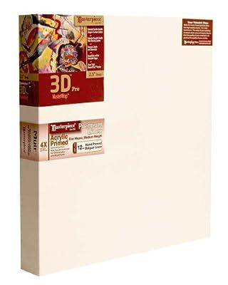 "Masterpiece 3D PRO 2-1/2"" Deep, 30 x 30 Inch, Muir Acrylic Primed Belgian Linen Canvas"
