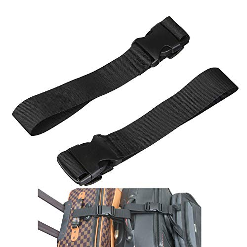 Strap Attachment (Two Add a Bag Luggage Strap Travel Luggage Suitcase Adjustable belt Travel Accessories Travel Attachment - Connect your three luggages together)