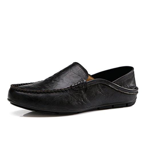 guida casuali da mano uomo fatti pelle da scarpe per in pelle Scarpe uomo Appartamenti morbide Fluores in basse Scarpe a Black Comode 8qAOAB
