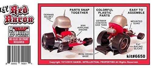 Tom Daniel Snap Together Easy to Build Lil Red Baron Show Rod Plastic Model Kit 1/32 Atlantis 3