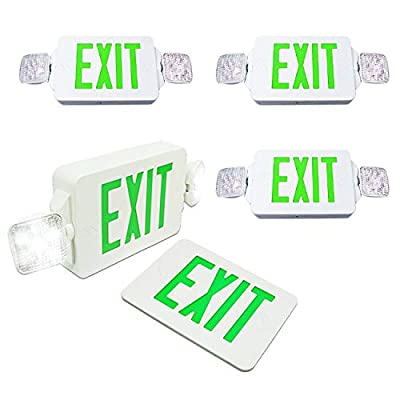 eTopLighting LED Exit Sign Emergency Lighting Emergency LED Light / Rotate LED Lamp Head / Green Letter, EL2CG-1, EL2CG-2, EL2CG-6, AGG2262