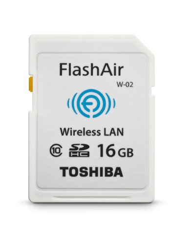 Toshiba Flash Air II Wireless 16 GB SD Memory Card (PFW016U-1BCW) (Lan Compactflash Card Wireless)