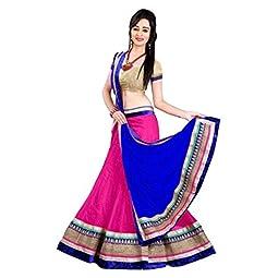 Aika Fashion Women's Net Semi-Stitched Lehenga Choli