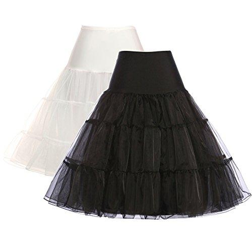 GRACE KARIN Women 50s Petticoat Skirts Tutu Crinoline Underskirt from GRACE KARIN