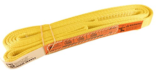 DD Sling. Multiple Lengths! (100% Made in USA) 1″ width, 1 Ply, Nylon Lifting Slings, Eye & Eye, Heavy Duty (900 webbing), 1,600 lbs Vertical, 1,200 Choker, 3,200 Basket (1″x10′)