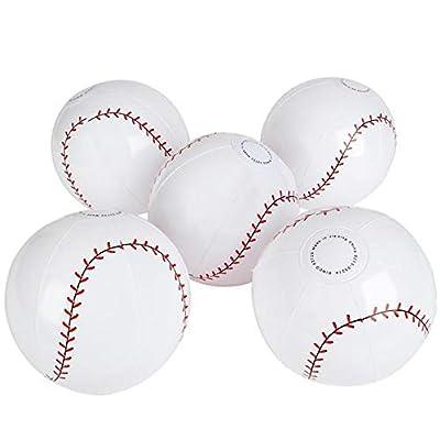 Rhode Island Novelty 9 Inch Baseball Inflates One Dozen Per Order: Toys & Games