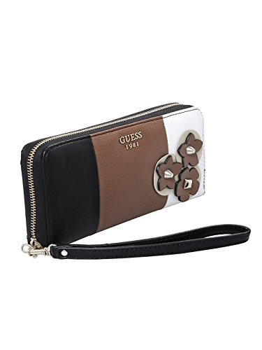 Guess wallet liya slg large zip around black multi