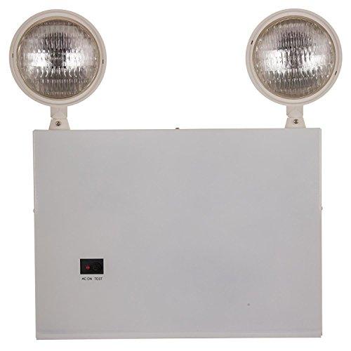 Sunlite 18 Watt 2 Head Emergency Light, White Powder Coated Finish, NYC Approved