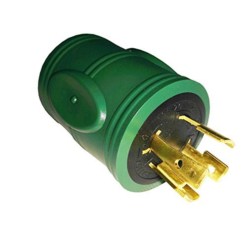 Parkworld 884975 Generator Adapter 4-Prong Locking 20A L14-20 Plug to 30A Locking L14-30 Receptacle by Parkworld