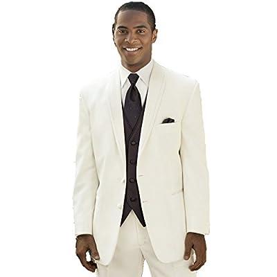 MYS Men's Custom Made Bridegroom Wedding Tuxedo Suit Pants Vest Tie Set Ivory