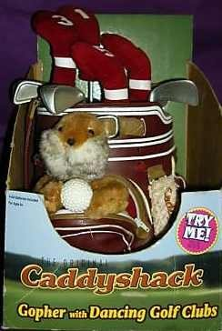 Caddyshack Gopher with Dancing Golf Clubs by -