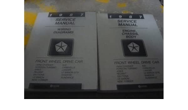 1987 chrysler le baron service shop repair manual set (engine/chassis/body  service manual, and the wiring diagrams manual ) paperback – 1987