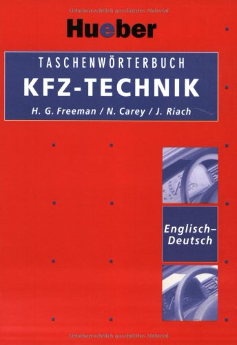Taschenwörterbuch KFZ-Technik, Englisch-Deutsch