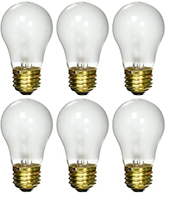 6 pack 40 Watt Decorative A15 Incandescent Light Bulb Medium E26 Standard Household Base Frost