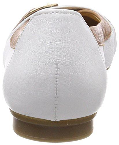Gabor Ladies Casual Ballerine Chiuse Bianco (bianco / Cognac)