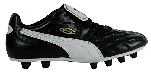 PUMA King FG Men's Soccer Boots, Black/White, 42.5