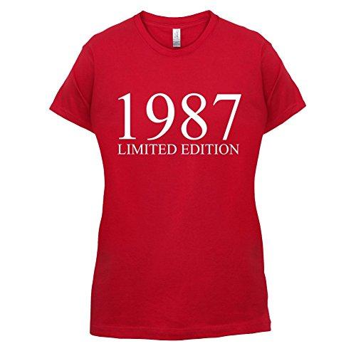 1987 Limierte Auflage / Limited Edition - 30. Geburtstag - Damen T-Shirt - Rot - L