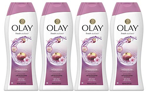 Olay Fresh Outlast Star Apple & Hibiscus Body Wash, 22.0 Fluid Ounce (Pack of 4) ()