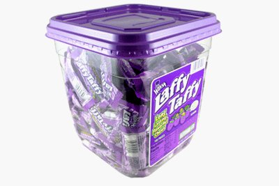 Wonka Laffy Taffy, Grape Flavor, 165-Count Container (Tub 165 Ct)