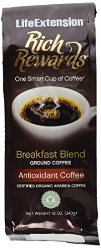 Rich Rewards Breakfast Blend Ground Coffee 12 Ounces
