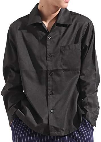長袖 オープンカラー シャツ 開襟 ビッグ ワイド ストリートモード カジュアル メンズ