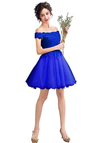 Königsblau Vimans A-linie Damen Kleid