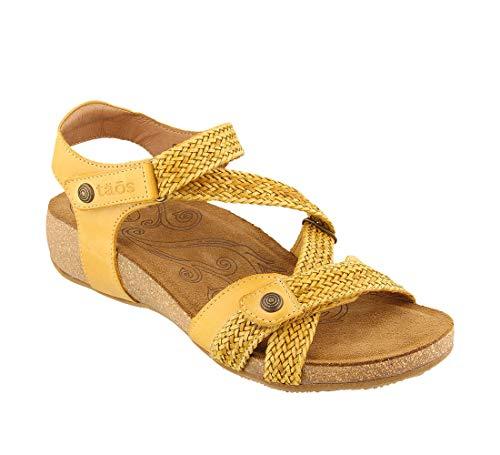 (Taos Footwear Footwear Women's Trulie Golden Yellow Sandal 8-8.5 M)