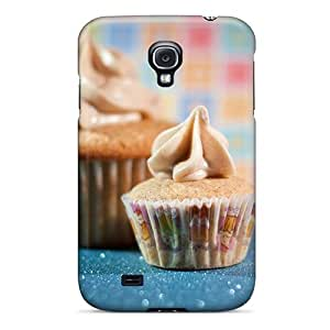 Galaxy S4 Cinnamon Cupcakes Print High Quality Tpu Gel Frame Case Cover