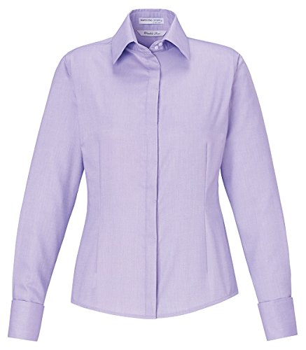 Ash City - North End North End Ladies Refine Two-Ply 80's Cotton Oxford Shirt, Small, Orchid Prpl 459